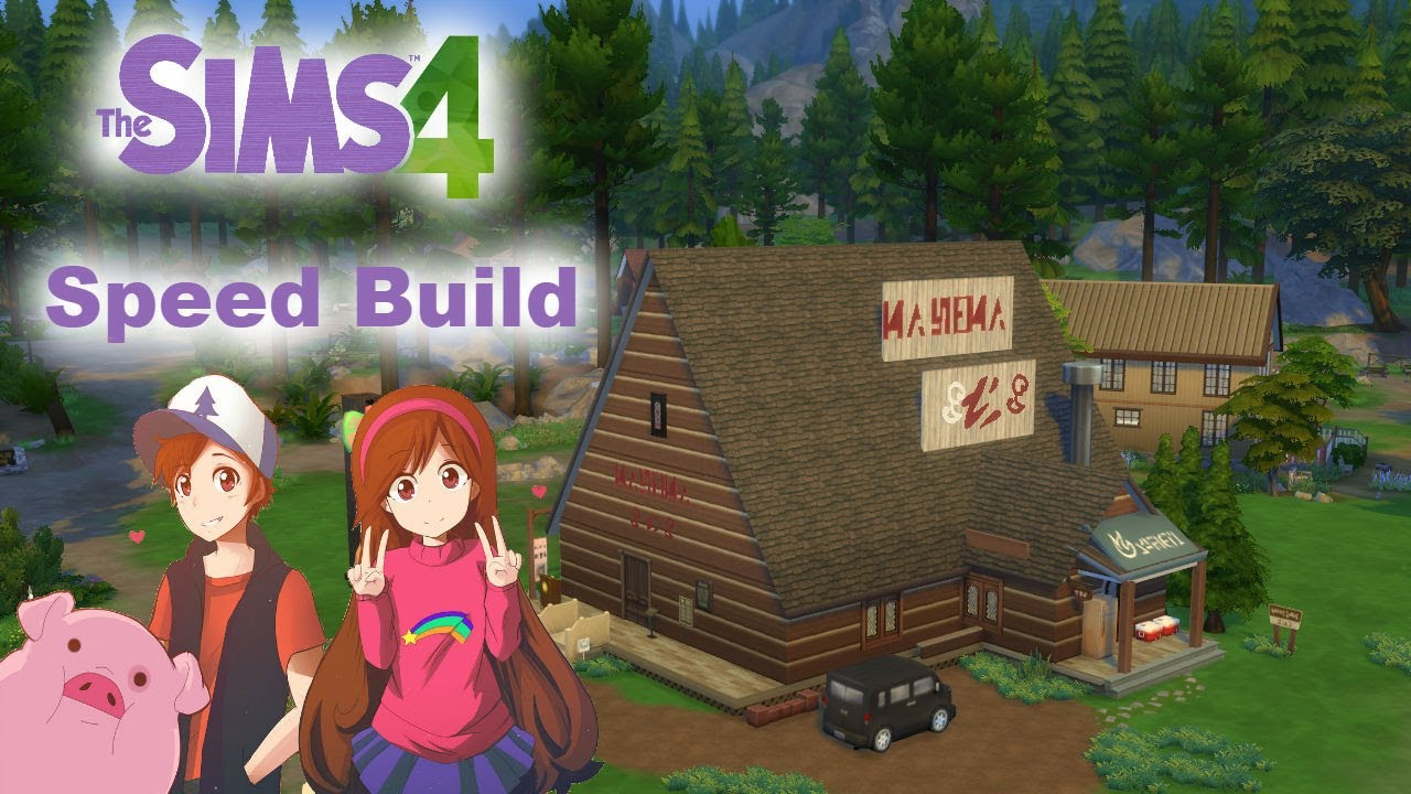 sims 4 speed build nocc mystery shack of gravity falls parte 3 final youtube