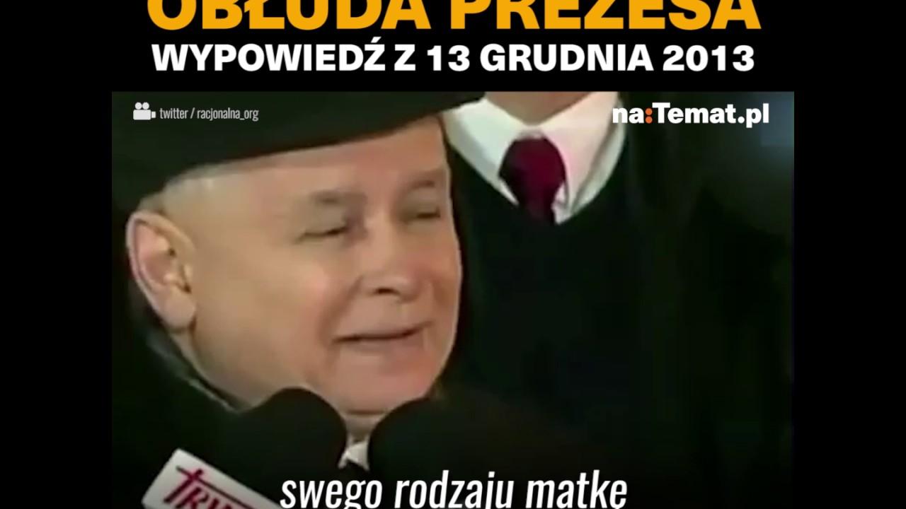 Obłuda Kaczyńskiego
