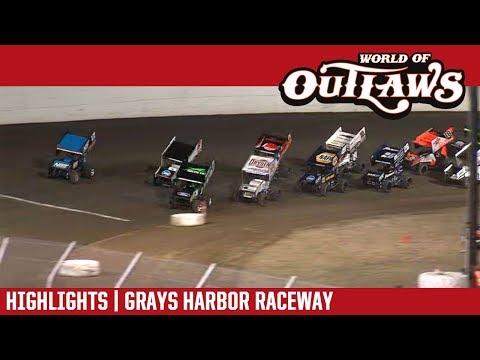 World of Outlaws Craftsman Sprint Cars Grays Harbor Raceway September 3, 2018 | HIGHLIGHTS