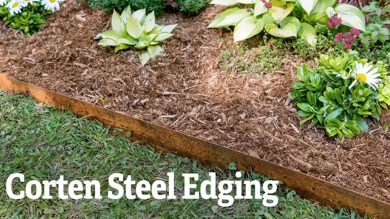 Corten Steel Edging Youtube