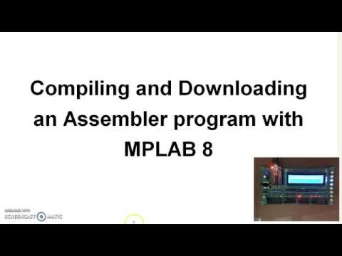 How To Compile And Download An Assembler Program:  1234.asm