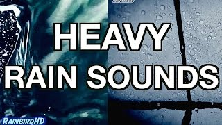 Repeat youtube video 'Rain' 2 Hours of Heavy Rainfall and Thunder Sounds | High Quality Sleeping Sounds
