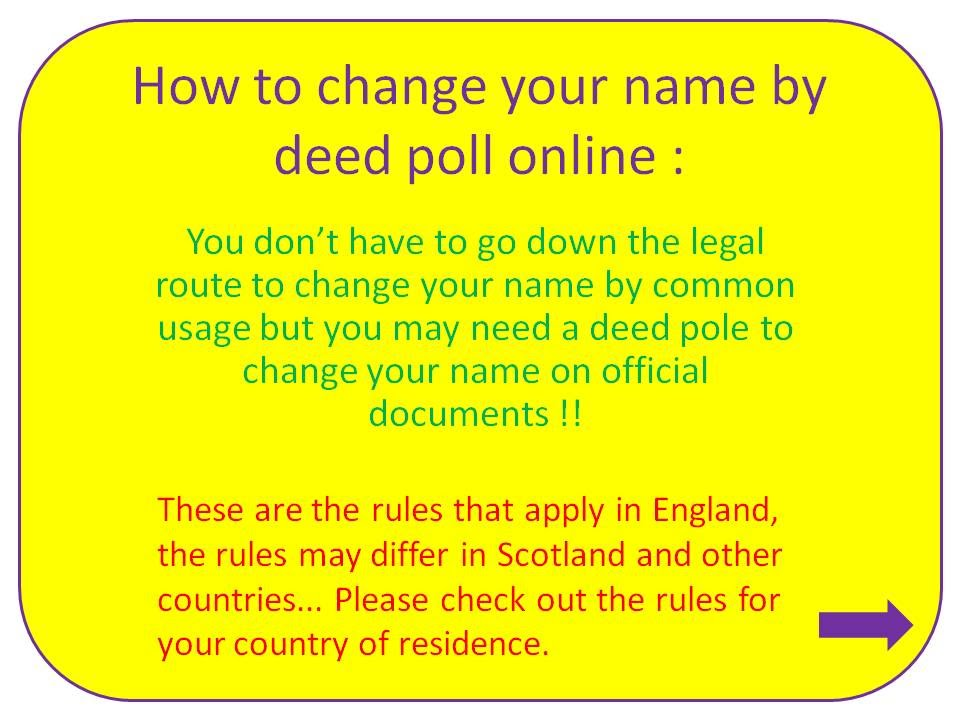 How To Change Your Name By Deed Poll Officially