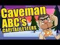 Alphabet Caveman Parade - Capital Letters