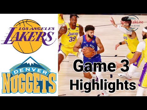 Lakers vs Nuggets HIGHLIGHTS Full Game   NBA Playoff Game 3