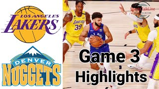 Lakers vs Nuggets HIGHLIGHTS Full Game | NBA Playoff Game 3