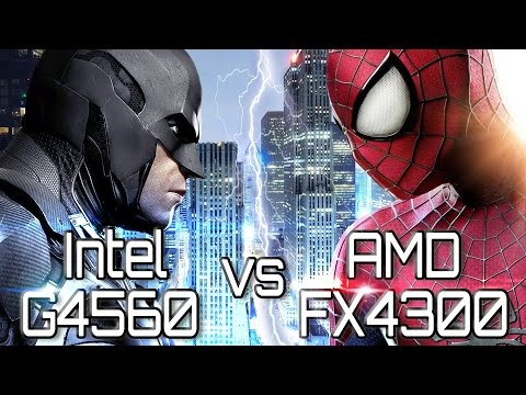 FX-4300 vs Pentium G4560 Kaby Lake in favorite games