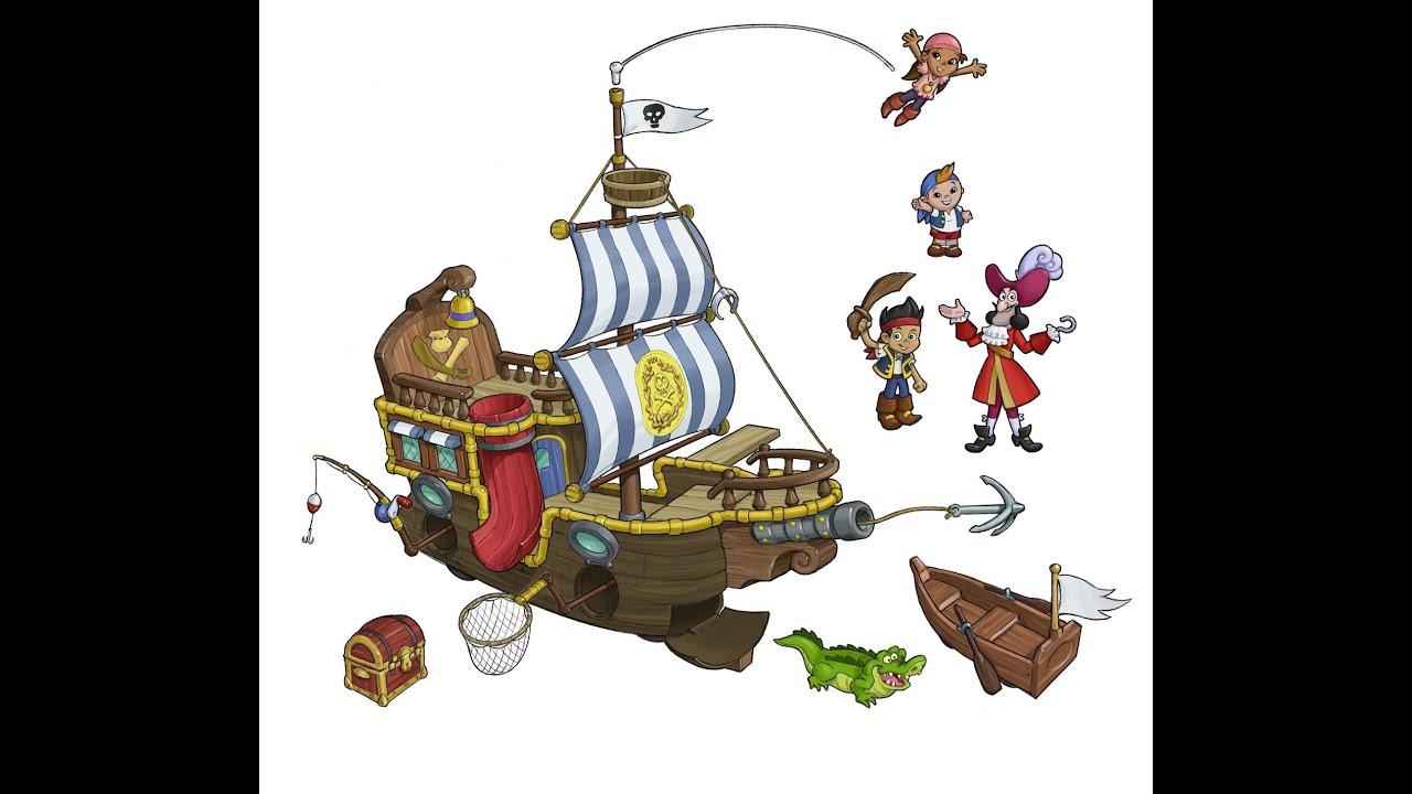 Jake et les pirates du pays imaginaire figurines jouets - Jack et le pirate ...
