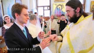 Венчание в Храме святителя Николая в Старом Ваганькове в центре Москвы недалеко от Кремля