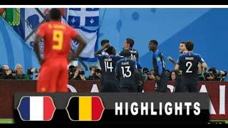 PRANCIS vs BELGIA 1-0 highlight and Cuplikan Gol Piala Dunia 2018 HD