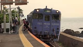 作業用 JR大村線・千綿駅の夕暮れと大村湾の風景 2019 5 25