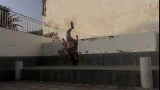 Female Athlete Going For A Smooth Parkour Jump