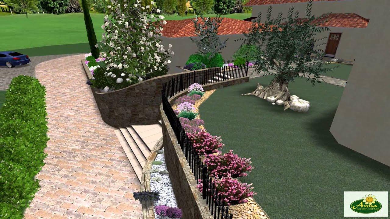 Proposta ambientazione progettazione giardino 3d youtube for Giardino 3d