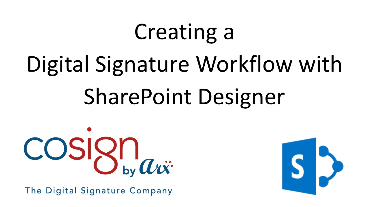 How to: Creating a Digital Signature Workflow with SharePoint ...