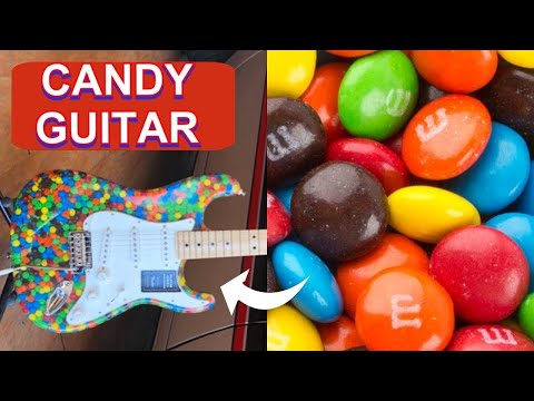 I built this guitar using epoxy and candy! 🎸