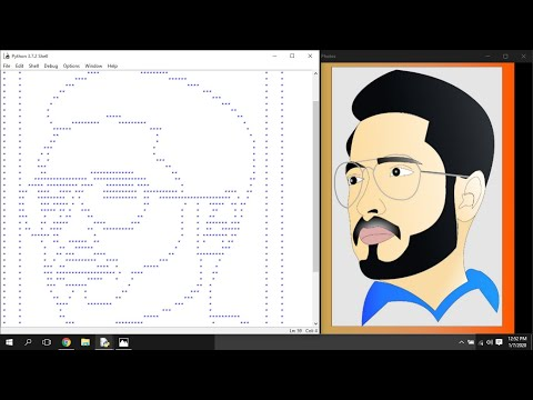 """Create an image using asterisks """"*"""" in Python and OpenCV - Image Processing - Programming Concepts"""