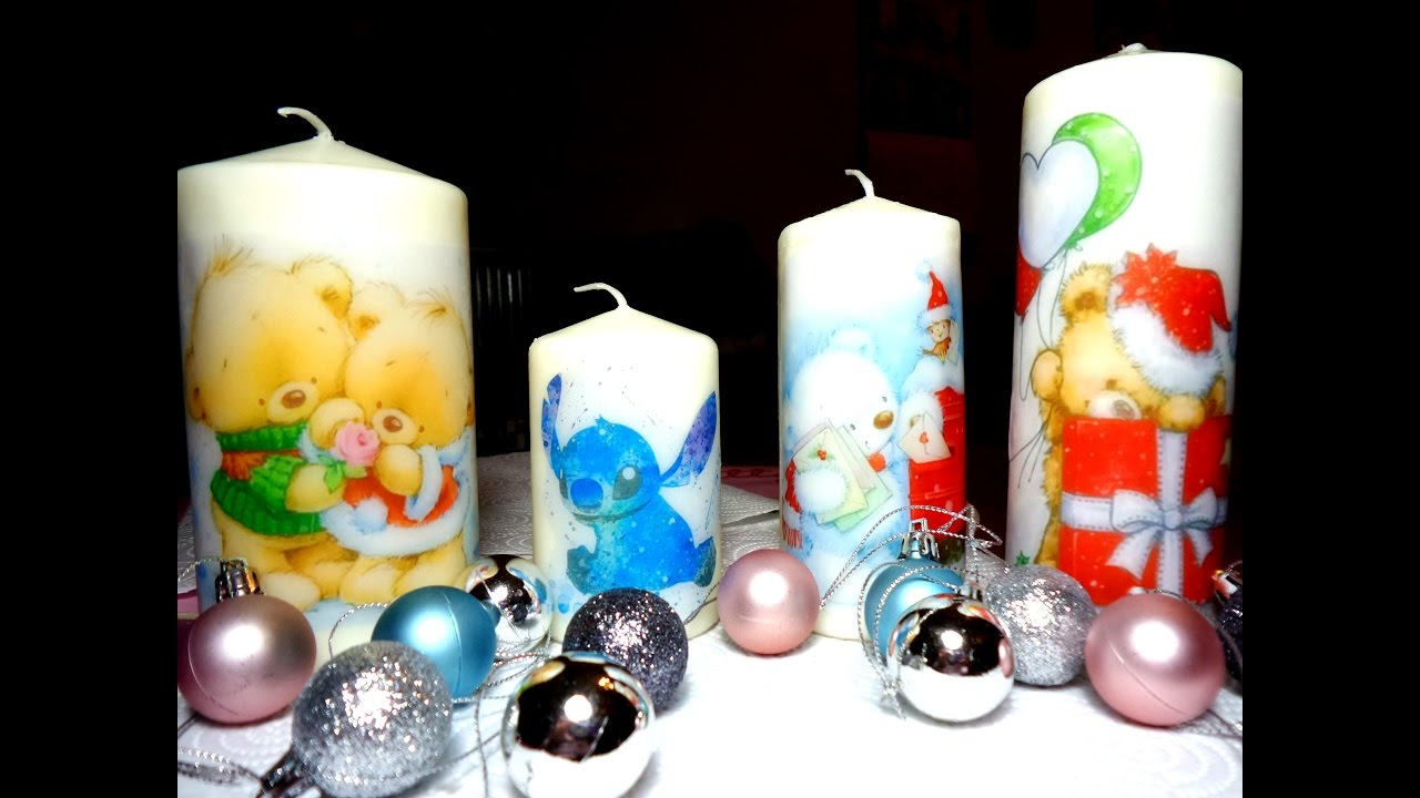 Decorare Candele Natale : Diy candele personalizzate printed candles idea regalo per