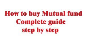 how to buy mutual fund first time | step by step guide for beginner