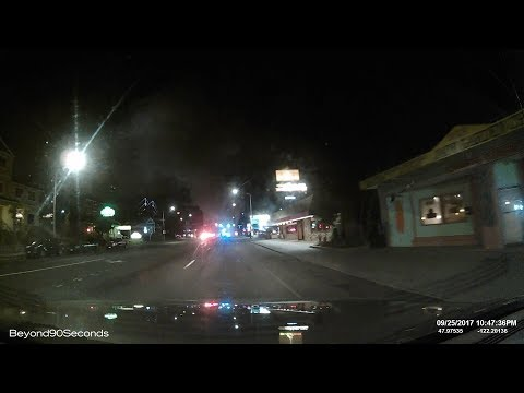 Dash cam: Three alarm fire at furniture store in Everett, WA / September 25, 2017