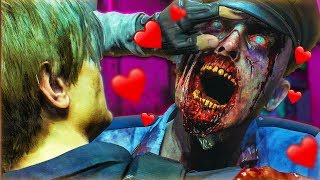 WHEN A ZOMBIE TRIES TO KISS YOU... | Resident Evil 2 Demo