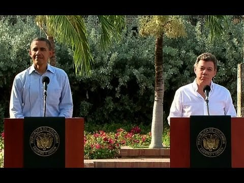 President Obama and President Santos Hold a Press Conference