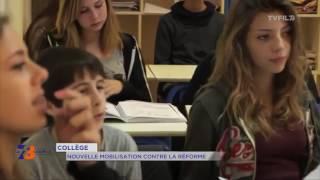 Collège : nouvelle mobilisation contre la réforme