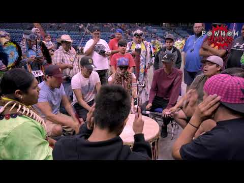 Whitefish Jrs Back 2 Back Fancy Songs @ Dakota Dunes Powwow 2017