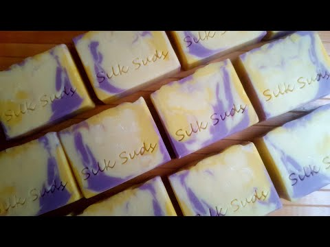making-and-cutting-lemongrass,-lavender-&-sage-essential-oil-soap