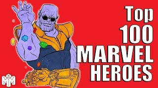 TOP 100 MARVEL HEROES