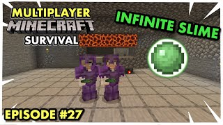 MAKING AN OP SLIME FARM in Multiplayer Minecraft Survival (Ep. 27)