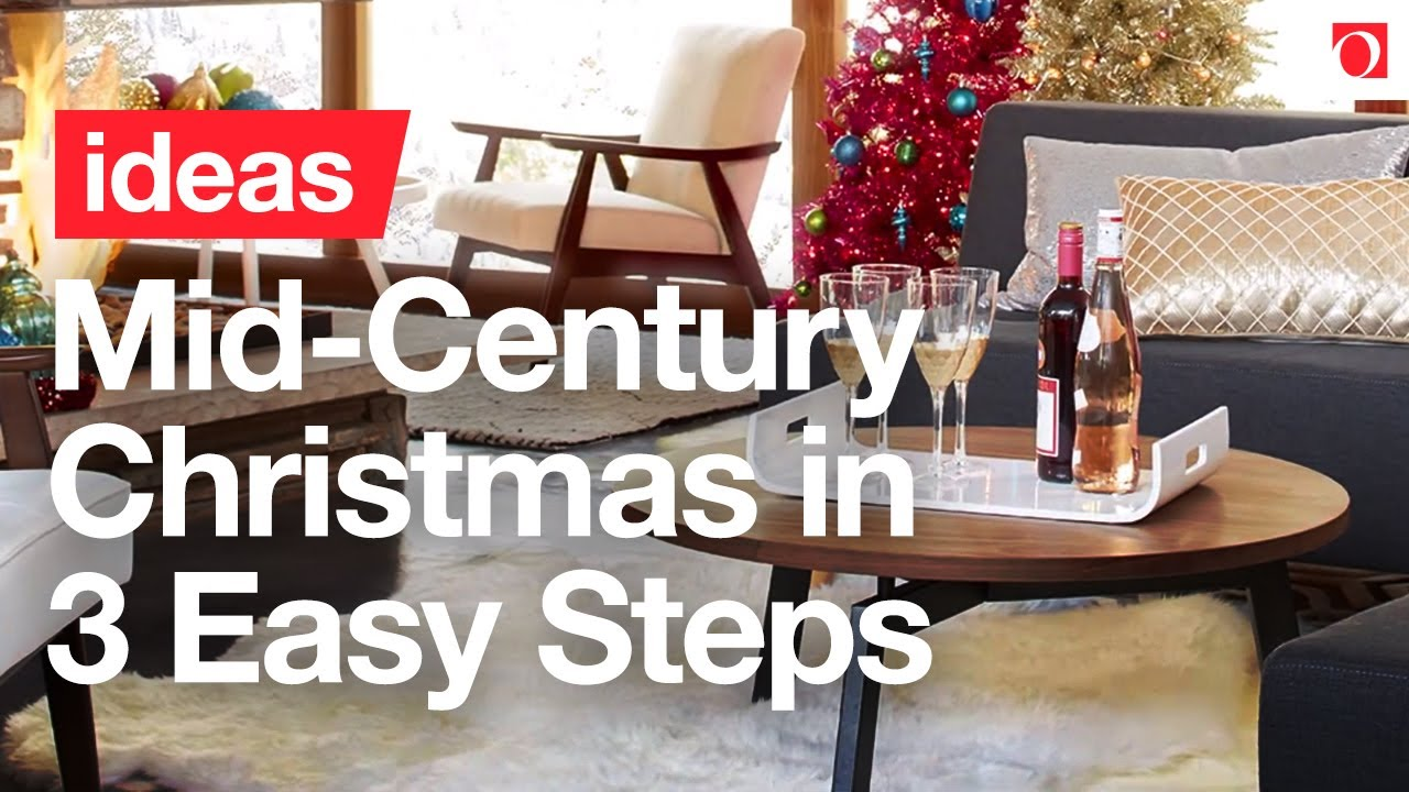 3 easy steps to mid century modern christmas decor overstockcom - Mid Century Christmas Decor