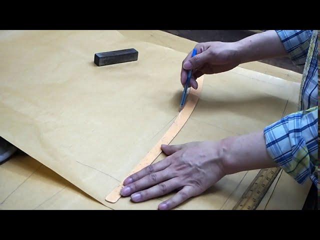 多功能皮革風衣製作過程 - 第1集:製作紙樣