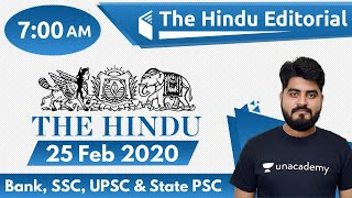 7:00 AM - The Hindu Editorial Analysis by Vishal Sir | 25 February 2020 | The Hindu Analysis