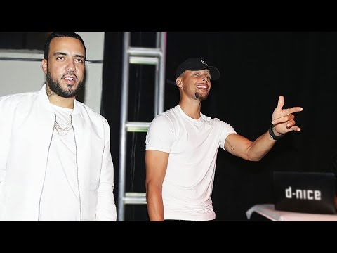 Steph Curry Dances With French Montana At Launch Of Curry 3's