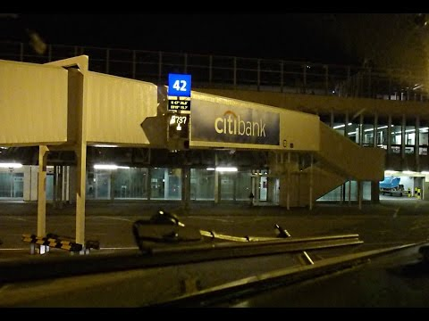 Night Landing and Taxi at Budapest Liszt Airport - Cockpit View