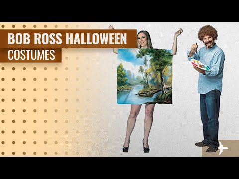 Bob Ross Halloween Costume Ideas: Bob Ross Artist Couples Costume Bundle Set