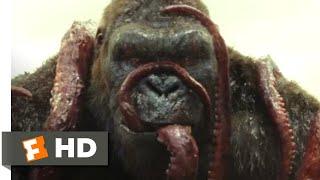 Kong: skull island (2017) - kong vs. giant squid scene (3/10) | movieclips
