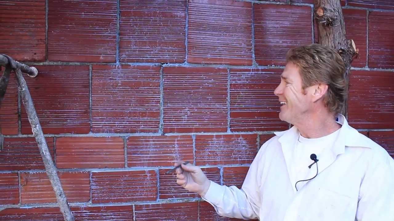 Terra Cotta Block : Plastering or parging terra cotta block brick walls