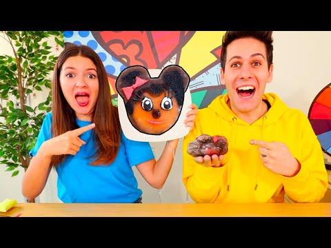 SLIME ART CHALLENGE 2 Dipingere con lo slime Topolino e Minnie