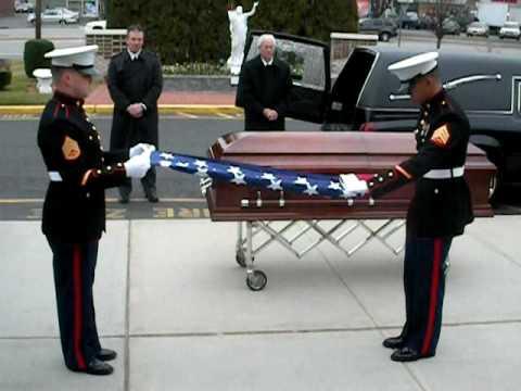 Marine Honor Guard Flag Folding Youtube