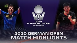 Dimitrij Ovtcharov vs Fan Zhendong | 2020 ITTF German Open Highlights (1/4)