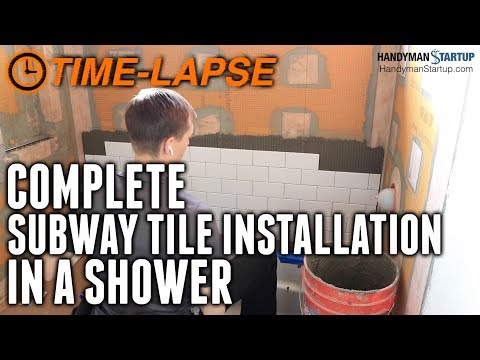 subway-tile-shower-time-lapse---entire-project-start-to-finish-with-commentary