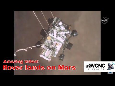 NASA reveals Mars rover landing video