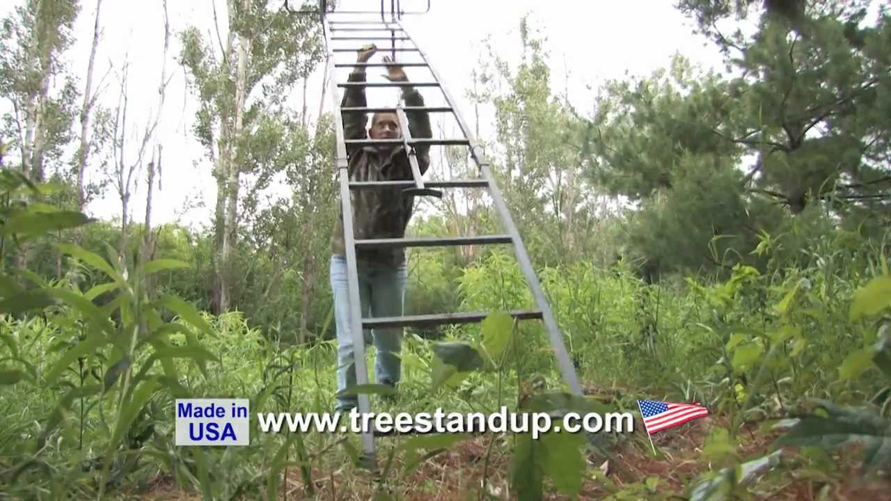 Tree Stand Up The Ladder Stand Accessory Youtube