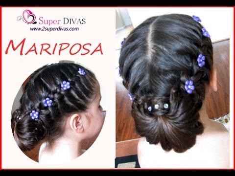 Trenza Mariposa Peinado Para Fiesta Trenza Y Flores Peinado