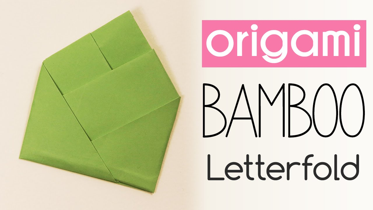 Easy origami bamboo letter fold tutorial diy back to school youtube