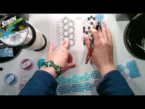 TT Doily Beaded Curtain Beading Tutorial - 2 N part 4