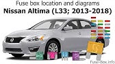 Fuse Box Location And Diagrams Nissan Altima L32 2007 2013 Youtube