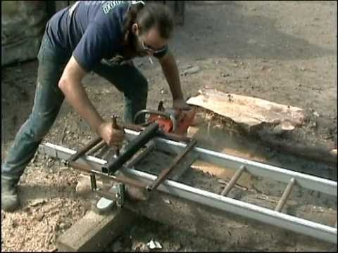 Chestnut cottage creations chainsaw sawmill home made jig for First time home building guide