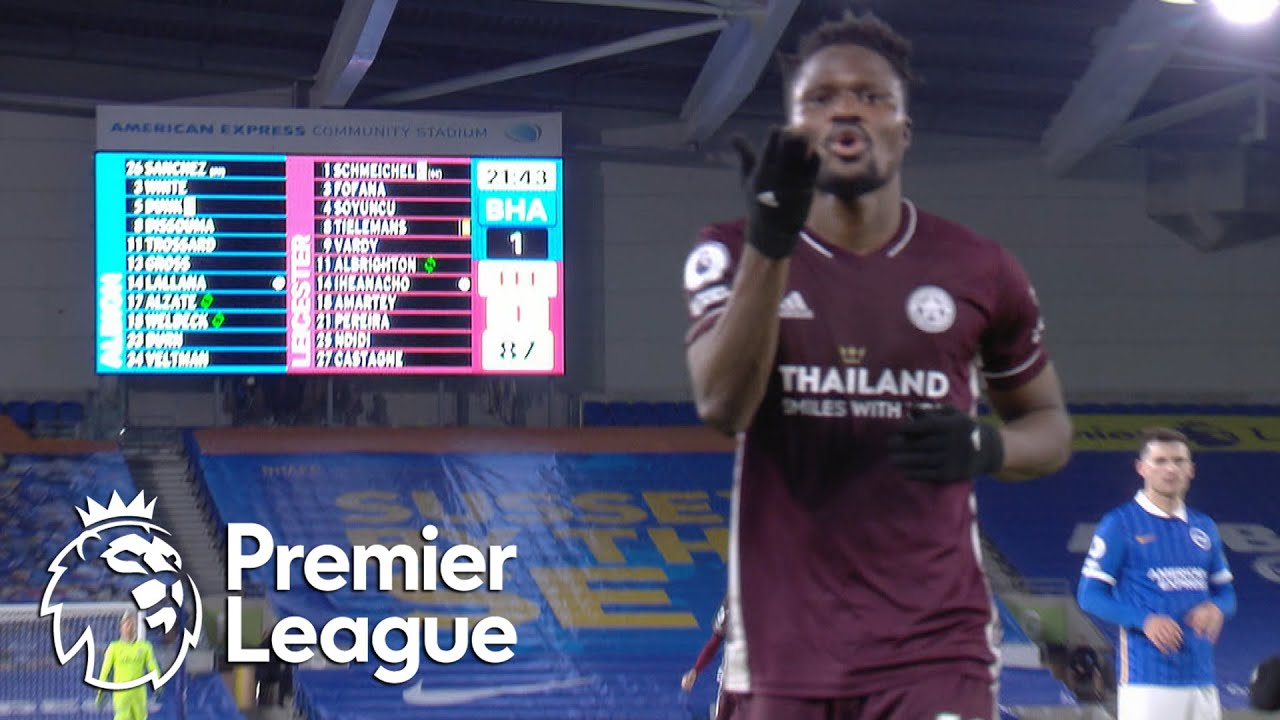 Daniel Amartey seizes late Leicester City lead against Brighton | Premier League | NBC Sports